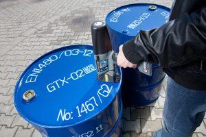 手持式喷码机应用于油桶喷码标识