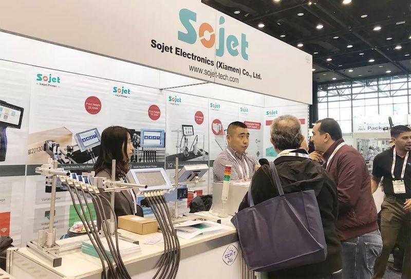 SOJET高解析喷码机参加2018美国芝加哥国际包装展会PACK EXPO