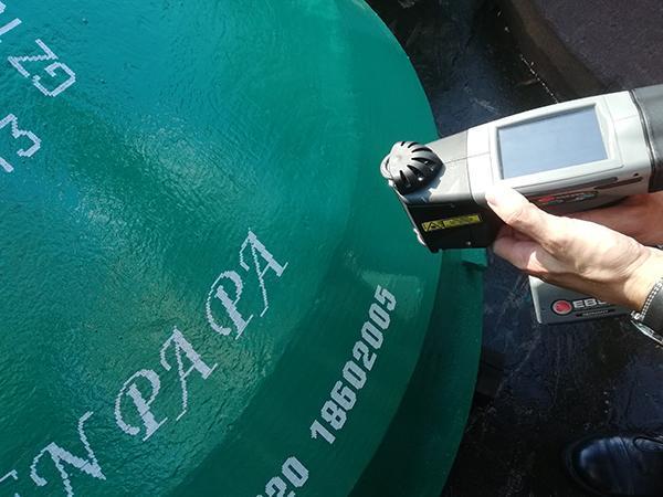手持式喷码机应用于大型机械设备零部件标识