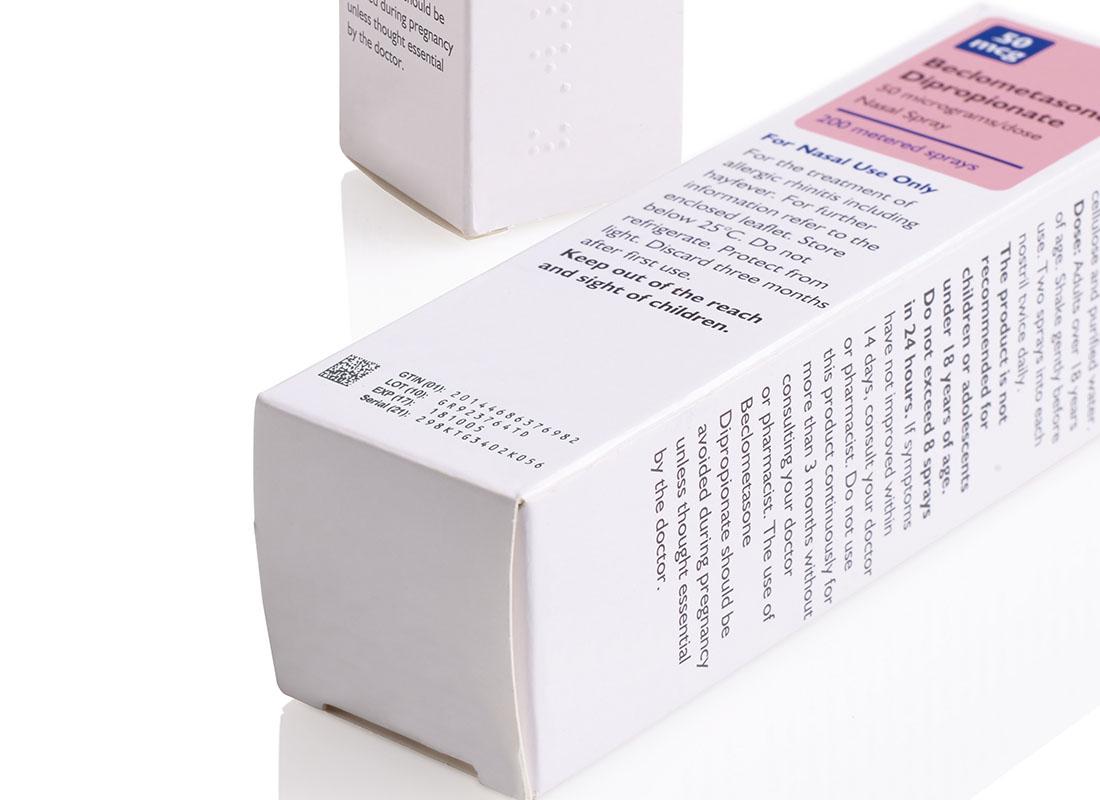 药品外包装喷码