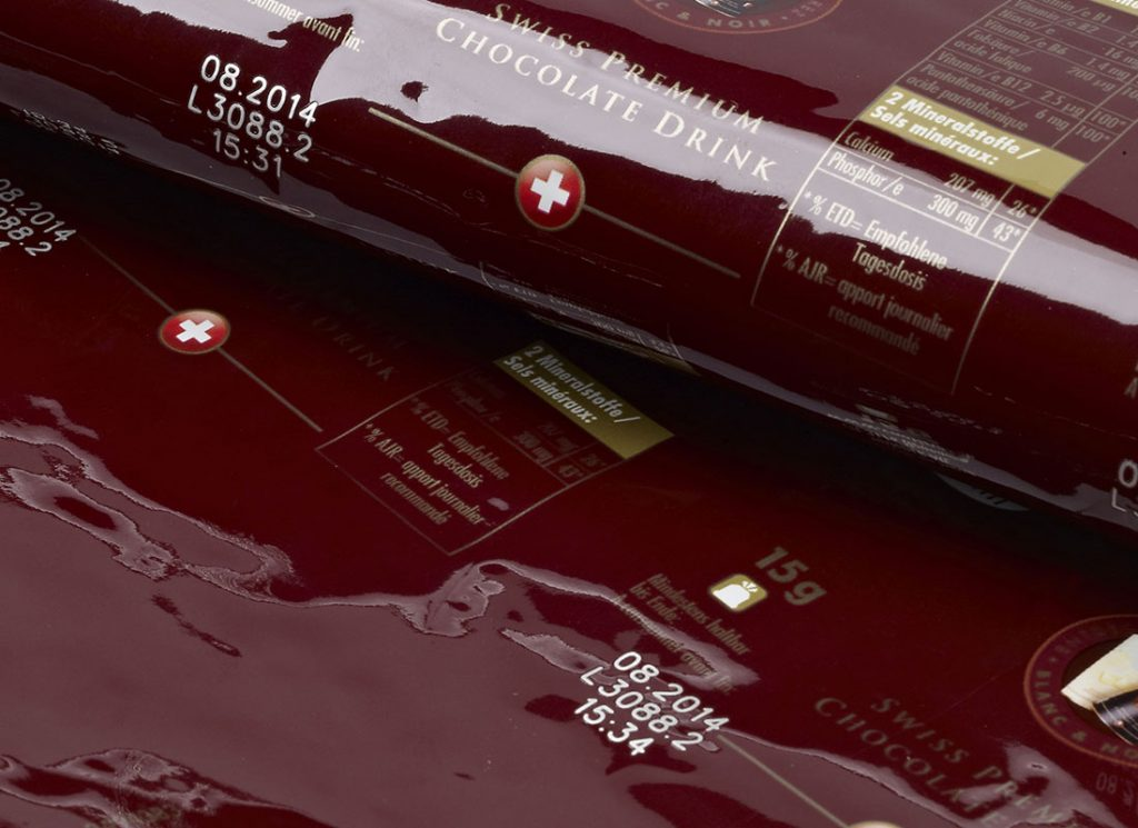巧克力包装激光喷码