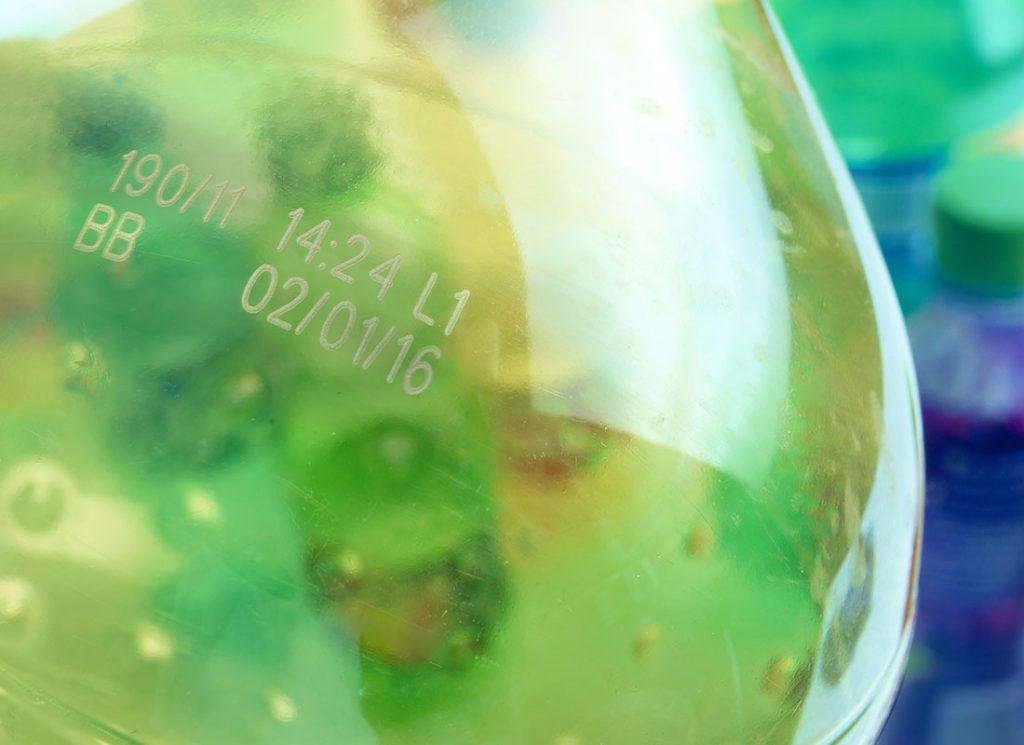 塑料包装瓶激光喷码