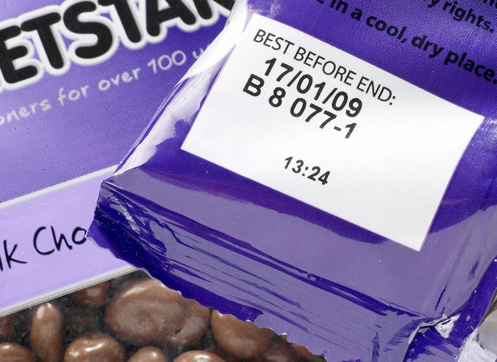 巧克力豆外包装激光喷码
