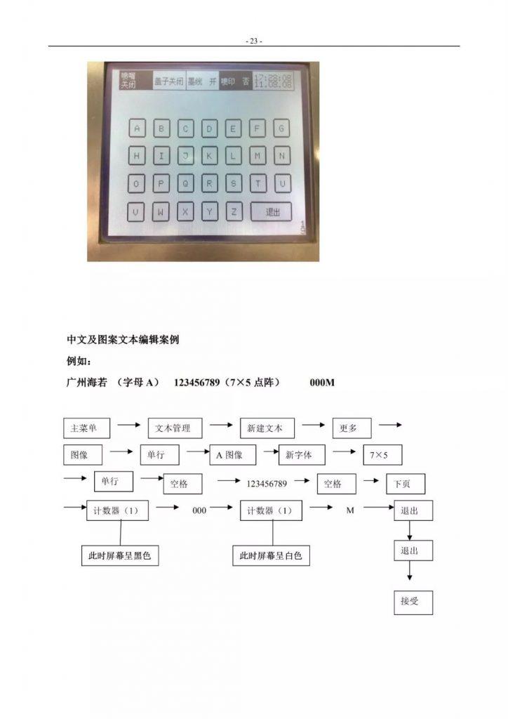 莱宾格喷码机简易操作手册