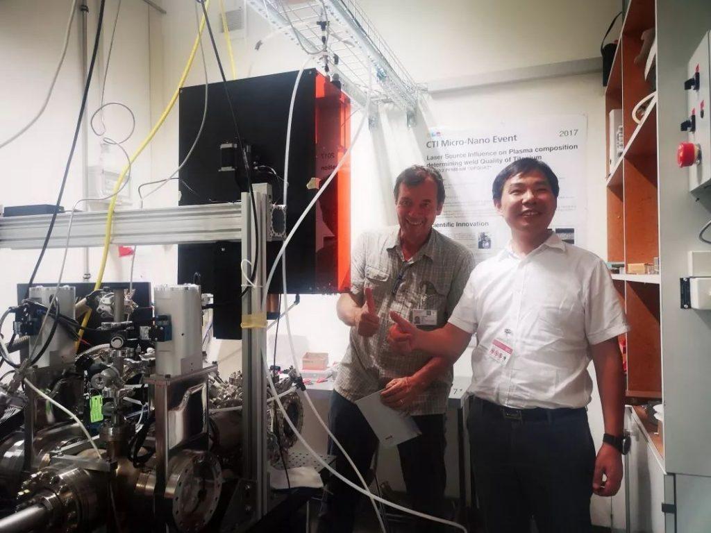 大族激光喷码机陈焱总经理参访Empa瑞士联邦材料试验和科研研究所