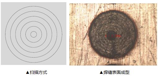 扫描方式焊缝表面成型