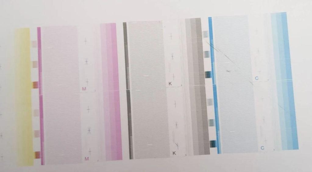 UV喷码机喷头划伤打印测试